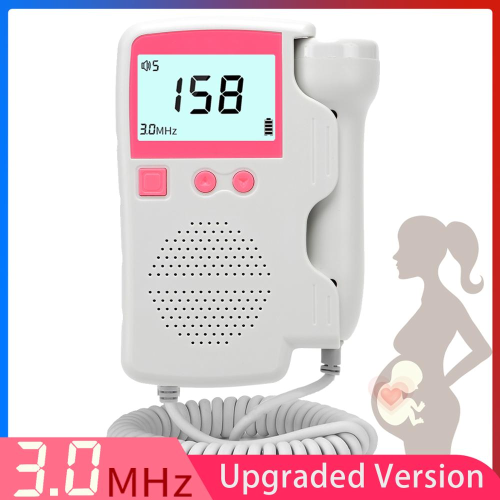 Upgraded 3.0MHz Doppler Fetal Heart rate Monitor Home Pregnancy Baby Fetal Sound Heart Rate Detector LCD Display No Radiation(China)