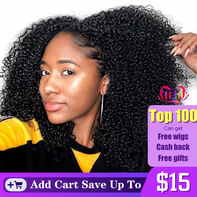 3b 3c kinky encaracolado grampo em extensões do cabelo humano conjuntos de cabeça cheia 100% humano natural cabelo grampo ins 4a dolago brasileiro remy cabelo
