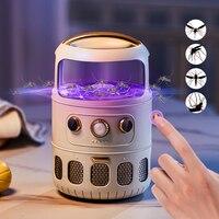2021New感電蚊キラーランプusbフライトラップザッパーランプmata muggen昆虫キラー抗蚊トラップのためのベッドルーム、屋外