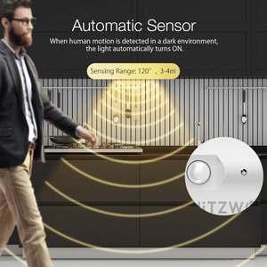 Image 4 - BlitzWolf BW LT25 Smart Automatische Sensor 12W 4000K LED Licht Streifen LED Abnehmbaren & Gespleißt Schrank Licht mit Nähte design