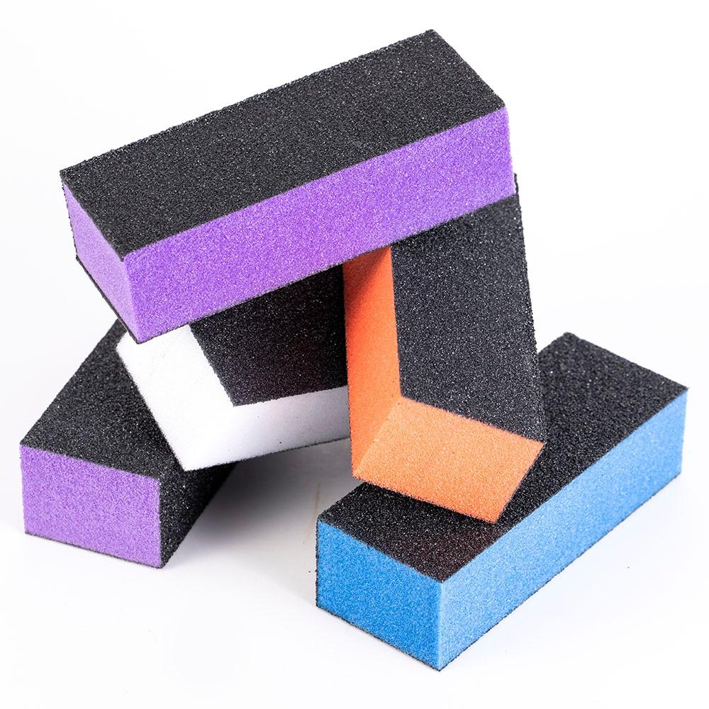 5pcs/set Professional Nail Buffer File Sponge Sandpaper Emery Block Polishing Grinding For Nail Files Manicure Nailfile Sets