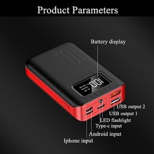 Image 3 - Портативное зарядное устройство 10000 мАч, внешний аккумулятор 10000 мАч с двойным USB портом, Внешнее зарядное устройство для Xiaomi Mi 9 8 iPhone