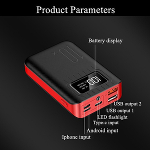 Image 3 - 10000 mAh batterie externe Portable charge PowerBank 10000 mAh double USB appauvrbank chargeur de batterie externe pour Xiao mi mi 9 8 iPhone