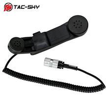TAC-SKY H-250 PTT Тактический headsetinterphone место 6-pin Ручной динамик микрофон PTT для AN/КНР 148152152A 6-pin H250 ptt