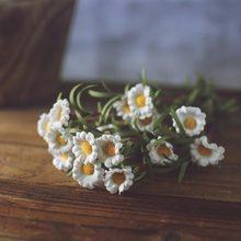 Flor artificial falso margarida lavanda decoração ainda vida fotografia adereços