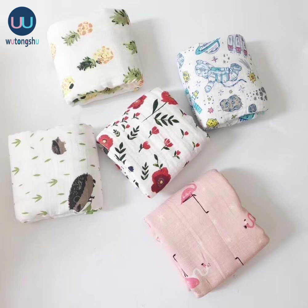Musselin Swaddles Baby Decken Fotografie Zubehör Bettwäsche Für Neugeborenen Swaddle Handtuch Swaddles Decken Stillen Abdeckung