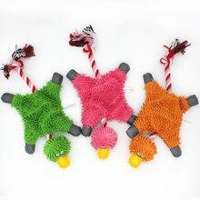 Zwierzęta kształt piszczałka zabawki dla psów dla małych psów akcesoria dla zwierząt pluszowy szczeniak gryzak z linami artykuły dla psów zabawka dla psa