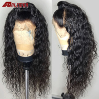 Free Part Glueless Water Wave Virgin Human Hair Wigs Pre Plucked Malaysian Wet And Wavy Natural Color Full Lace Wigs