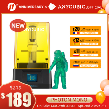 ANYCUBIC Photon Mono 3D Printer UV Resin Printers with 6 inch 2K Monochrome LCD Screen & Fast Printing Speed 130x80x165 mm 1