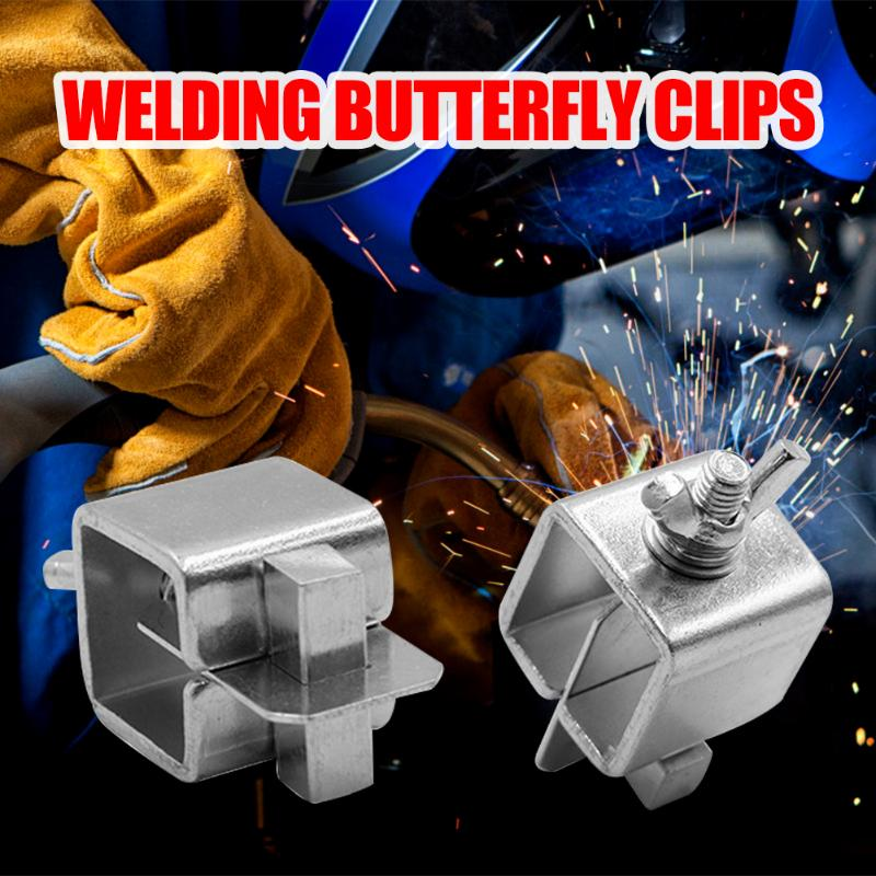 8pcs Welding Butterfly Clip Butt Welding Clamps Holder Positioner Fixture Adjustable For Welding Clamps