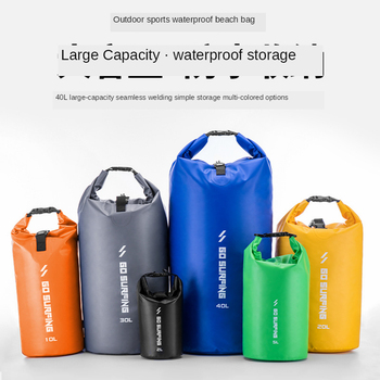 10-20L Large Capacity Colorful Portable Foldable Beach Bucket Bag Storage Bag Outdoor Camping Rafting Waterproof Swimming Bag 20l capacity waterproof bag outdoor portable swimming bag camping waterproof products outdoor climbing storage storage supplies