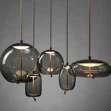 Nordic Loft Rope Design Glass Hanging Lamp Living Room Restaurant Kitchen Fixtures Pendant Lights Luminaire Lighting Luminaria
