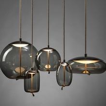 Nordic Loft Rope Design Glass Hanging Lamp Living Room Restaurant Kitchen Fixtures Pendant Lights Luminaire Lighting Luminaria