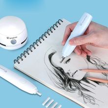 Pencil Drawing Mechanical Electric Eraser Cute Kneaded Erasers for Kids School Office Supplies Rubber Pencil Eraser Refill Gift