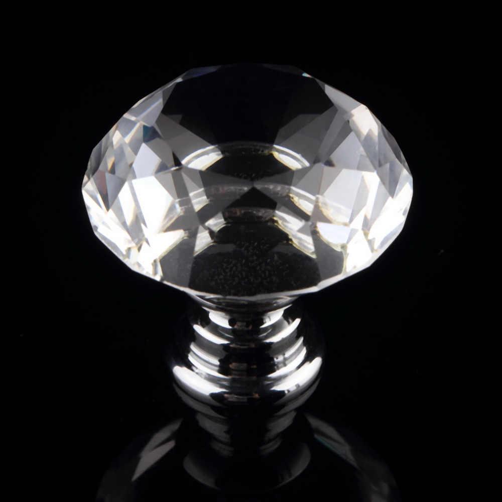 1 قطعة 30 مللي متر الماس الكريستال والزجاج سبيكة الباب درج خزانة خزانة مقبض سحب المقابض قطرة متجر في جميع أنحاء العالم