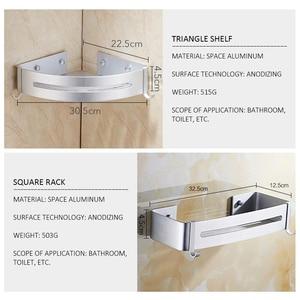 Image 4 - Bath Corner Shelf Bathroom Shower Shelf Nail free Shampoo Holder Shelves  Storage Shelf Rack Bathroom Basket Holder EL99