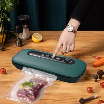 Próżniowe maszyna pakująca 220V uszczelniacz próżniowy dla przechowywanie żywności nowej żywności uszczelniaczem próżni próżniowe Packer torebki próżniowe dla domu próżniowa do kuchni do pakowania tanie i dobre opinie karsah NONE CN (pochodzenie) Vacuum Packing Machine Stojak Stół 28cm Elektryczne Vacuum Sealer Food Sealer Food Storage Machine
