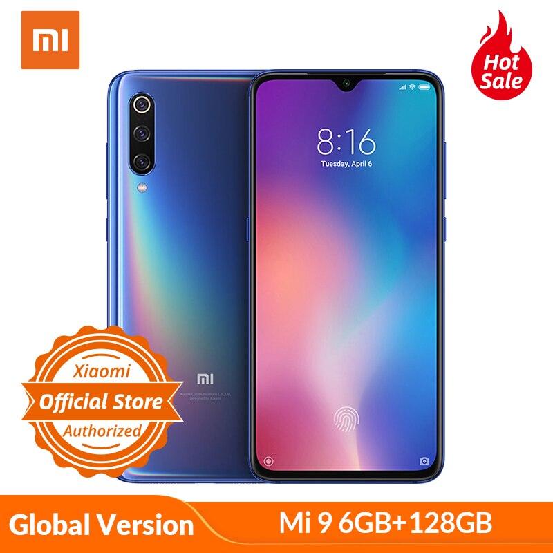 Versão Global Xiaomi Mi 9 mi9 6GB 128GB Snapdragon 855 48MP Triplo Câmera AMOLED Telefone Móvel impressão digital de Carregamento Sem Fio NFC