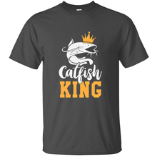 Knitted Funny Catfish King Gift Men's T Shirt Comic Tee Shirt Plus Size S-5xl Cotton Hiphop Tops(China)