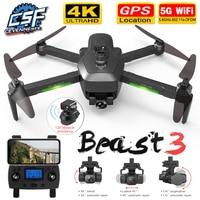 2021 nuova telecamera SG906 MAX/Pro2 Drone 4K HD con GPS Wifi FPV quadricottero pieghevole professionale a tre assi con motore Brushless cardanico