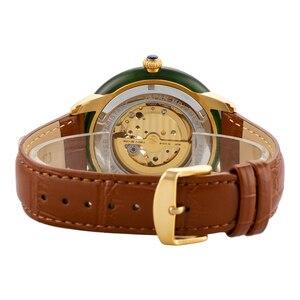 Image 4 - Tian Holle Mannen Mechanische Horloges Lederen Band Geavanceerde Beweging Met Jade Identificatie Certificaat Relojes Hombre