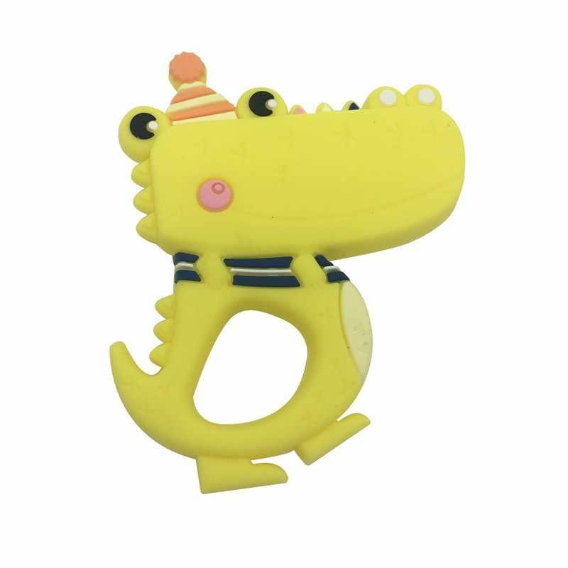 Tiny Rod BPA ซิลิโคนเกรดอาหารฟรี Teethers การ์ตูนสัตว์รูปร่าง Pacifier Clips อุปกรณ์เสริม DIY เด็ก Teething 1 PC
