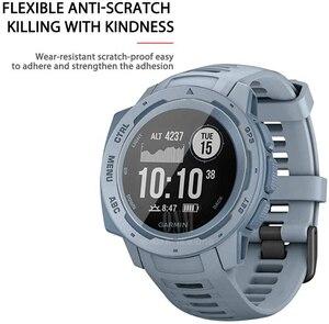 Image 3 - 9H Premium Gehärtetem Glas Für Garmin Instinct Flut GPS Smartwatch Screen Protector Explosion Proof Film Zubehör