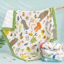 29 estilos 110*120cm 4 e 6 camadas de bambu cobertor do bebê swaddle musselina bambu algodão cobertor crianças bebê recebendo cobertor