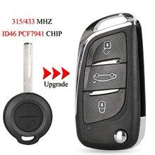 Kutery mando a distancia inteligente para coche, llave para Mercedes Benz Smart 454, Forfour, Mitsubishi Colt, 2 botones, 315/433Mhz, ID46, PCF7941Chip