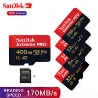 SanDisk Extreme Pro High Speed 400GB 256gb 128gb 64gb Micro SD Card 170MB/s V30 C10 UHS-I A2 U3 TF Memory Card 32gb Microsd Card