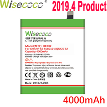 WISECOCO 4000mAh HE332 Battery For SHARP S2 fs8010 AQUOS s2 Phone In Stock Latest Production High Quality Battery+Tracking Code