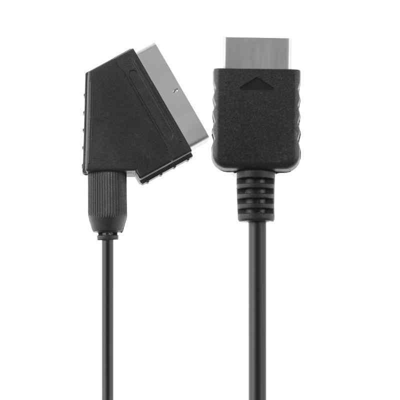 ALLOYSEED RGB SCART 線ケーブル 1.8 メートル/6ft テレビ AV ソニーのプレイステーションの PS2 PS3 スリムラインゲームコンソールアクセサリー高品質