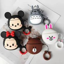 For Apple Airpods 2 Case Soft Silicone Cute Cartoon Cover Headphone Protective Air pods