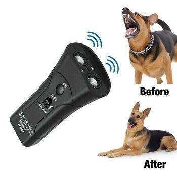 Pet Dog ultradźwiękowy Chaser ataki zwierząt odstraszacz latarka pies Anti Barking Stop agresywny odstraszacz przyrząd szkoleniowy tanie i dobre opinie Odstraszacze CN (pochodzenie) Z tworzywa sztucznego Dog Ultrasonic Chaser