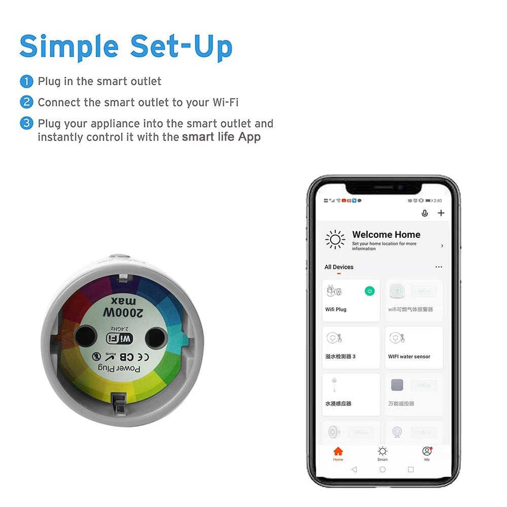 Coolcam Smart Plug ЕС поддержка Amazon Alexa Google дома, IFTTT дистанционное управление переключатель wi fi мини розетка с Функция синхронизации