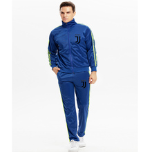 Mens suit (zipper jacket + sweatpants) two-piece fashion casual wear brand sportswear winter running workout clothes