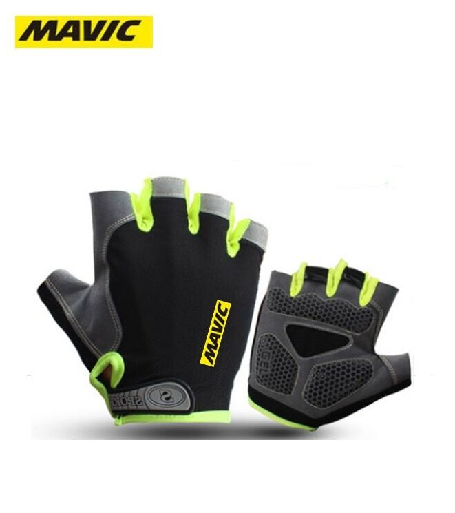 Obedient Hot High Quality Mavic Cycling Gloves Half Finger Mens Women's Summer Sports Shockproof Bike Gloves Gel Mtb Bicycle Gloves