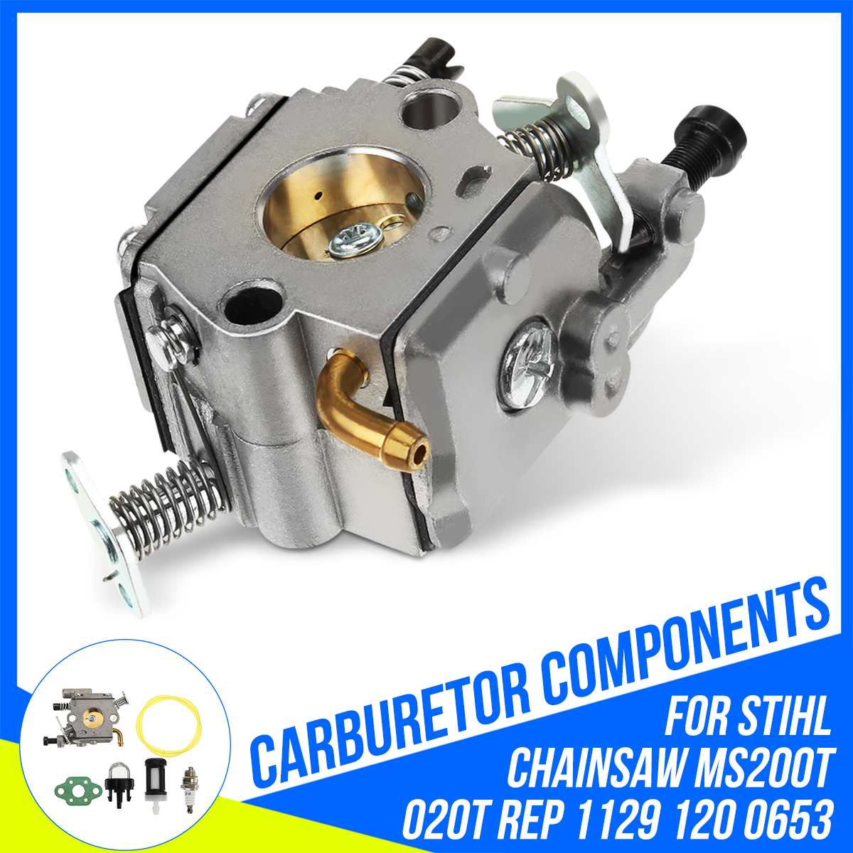 Carb Carburetor For Stihl MS200 MS200T 020T Chainsaw ZAMA C1Q S126B 11291200653 Fuel Supply System Carburetors Replacement Parts Carburetors     - title=
