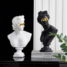 Apollo harz statue dekoration David kopf skulptur Nordic dekoration home zubehör skizze praxis modell kunst geschenk