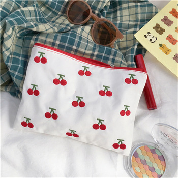 Cartoon Animal Cosmetic Bag Canvas Makeup Organizer Bag For Girl Travel Storage Bags Portable Women Clutch Bag