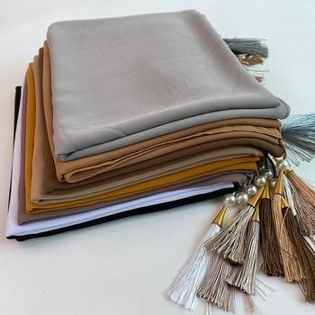 Designer Bubble Chiffon Solider Color Scarf Long Soft Wrap Scarf Shawl Scarves Femme Bufandas Beaded