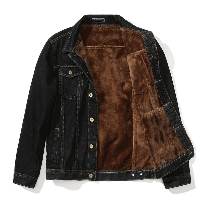Men Jacket Coat Jeans Motorcycle Warm Fleece Denim Winter Thick Thicken Cowboy Parka Male Solid Outerwear Windbreaker ,GCM010