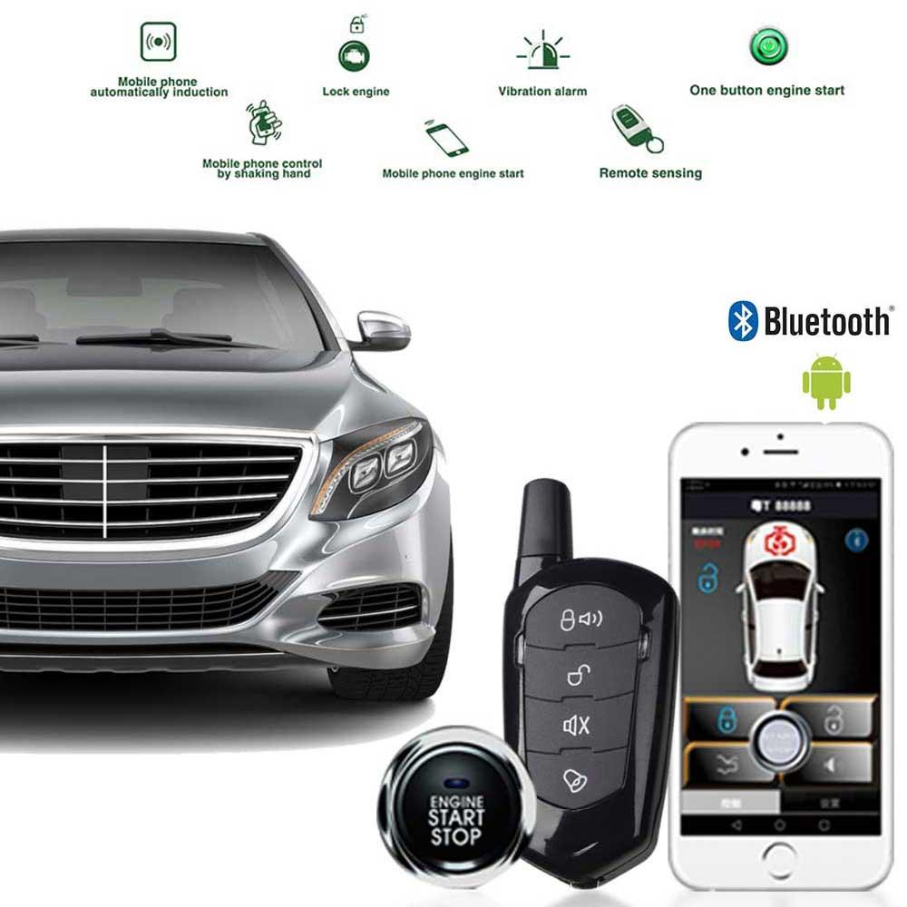 Car Alarm System Auto Alarm Quad Lock Starline Keychain Offline Offline Start Stop Button Central Locking Remote Start Signaling