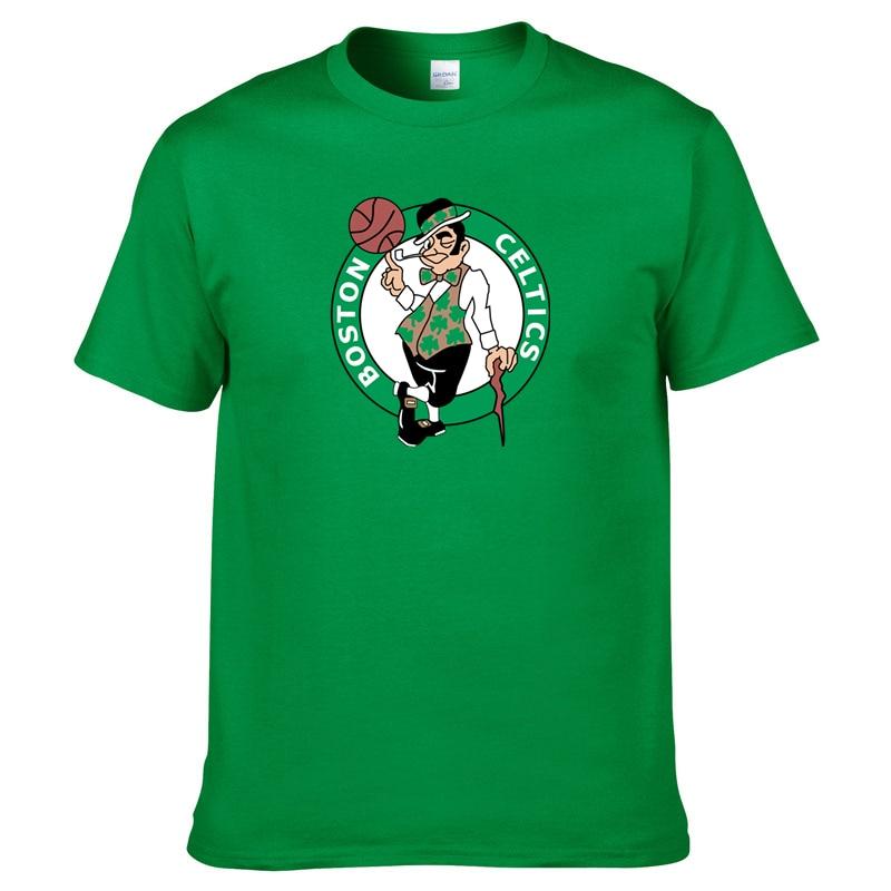 New Boston Mens Summer Cotton Tshirt The Green T-Shirt Celtics Men Hip Hop Streetwear Tops Tees Harajuku Short Sleeve TShirts