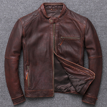 100% Genuine Leather Jacket Men Clothes 2020 Autumn winter Real Fit Cow Leather