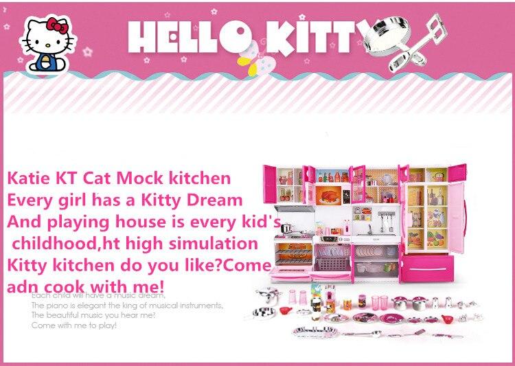 Olá kitty cozinha brinquedos fingir jogar utensílios
