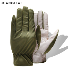 Free Shipping 2015 Cheapest D Grade Pigskin Leather Green Gardening Gloves цена 2017