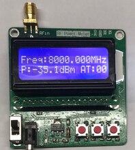 1 8000mhz rf medidor de potência 5 ~ 60dbm digital display lcd atenuação de freqüência de rádio valor na atenuação db módulo