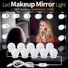 Bulbs-Kit Mirror Vanity Dressing-Table Dimmable-Lights Led Makeup Hollywood Beauty Light-Bulb