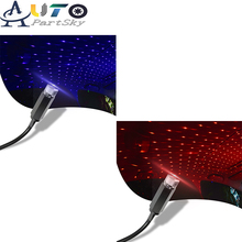 2 Pieces LED Car Roof Star Night Light USB Decorative Lamp For Toyota 4 Runner Camry Corolla Interior Starry Laser Lamps